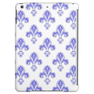 Fleur-de-lis, Violet Purple & White Cover For iPad Air