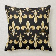 Fleur De Lis Wallpapered Pillows