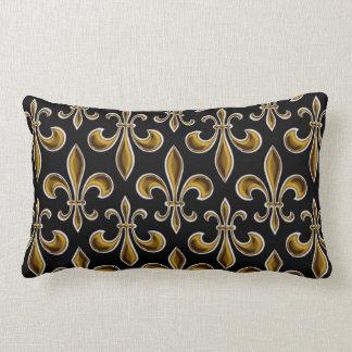 Fleur De Lis Wallpapered Throw Pillow