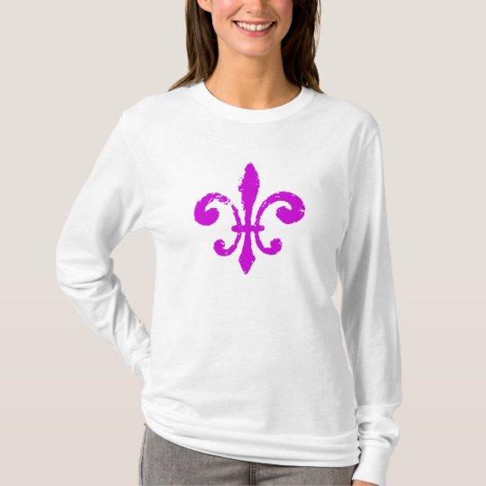 Fleur De Lis Washout in Purple T-Shirt