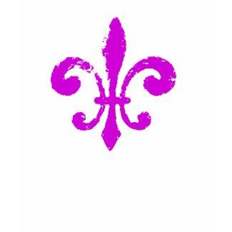 Fleur De Lis Washout in Purple shirt