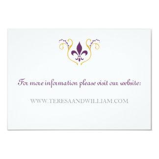 Fleur de Lis Website Card