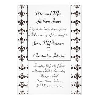 Fleur De Lis Wedding Invitation