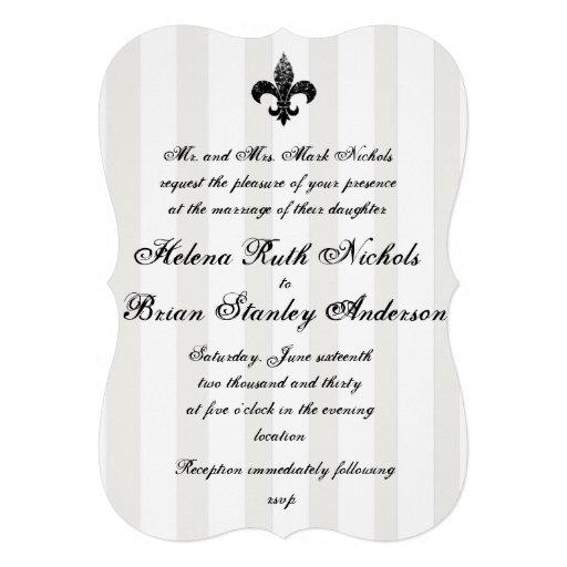 Fleur De Lis Wedding Invitations Invites
