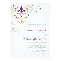 Fleur de Lis Wedding Invitations 5x7