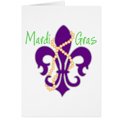Fleur De Lis with beads Greeting Card