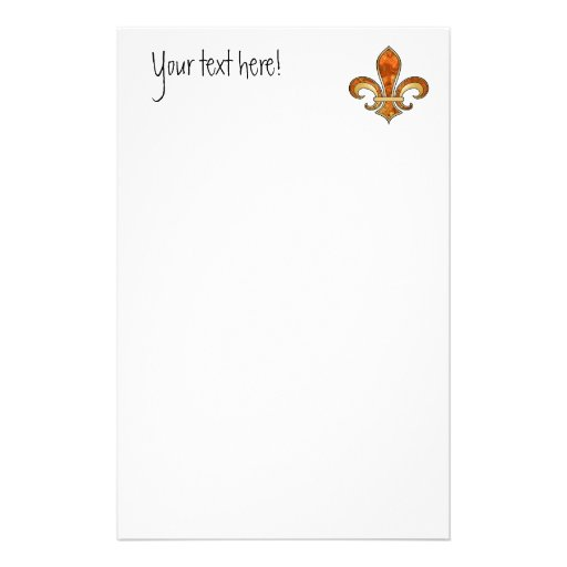 Fleur de Lis with pattern - 08 Customized Stationery