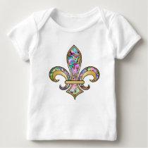 Fleur de Lis with pattern - 09 Baby T-Shirt
