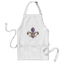 Fleur de Lis with pattern - 10 Adult Apron