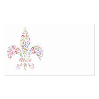 Fleur de Lis words symbol Double-Sided Standard Business Cards (Pack Of 100)