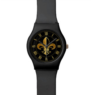 Fleur de lis wrist watch