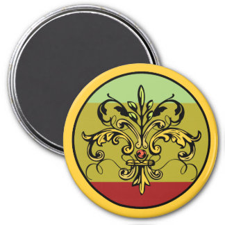Fleur de lis Xmas 3 Inch Round Magnet