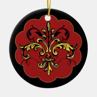 Fleur de lis Xmas - red Christmas Ornament