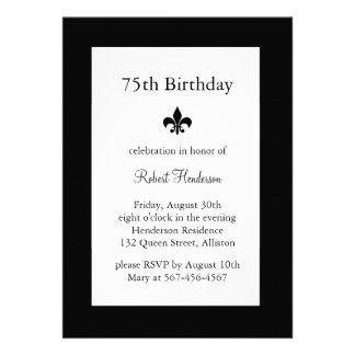 Fleur de Lise Birthday Invitation