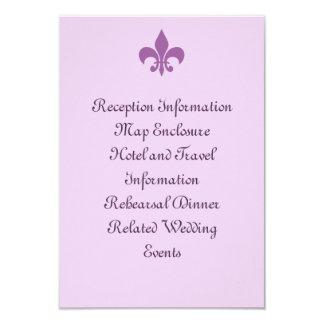Fleur de Lise Enclosure Card in Lilacs