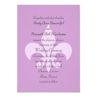 Fleur de Lise Wedding Invitation in Lilacs