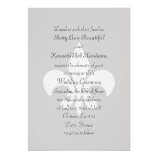 Fleur de Lise Wedding Invitation in Smokey Grays