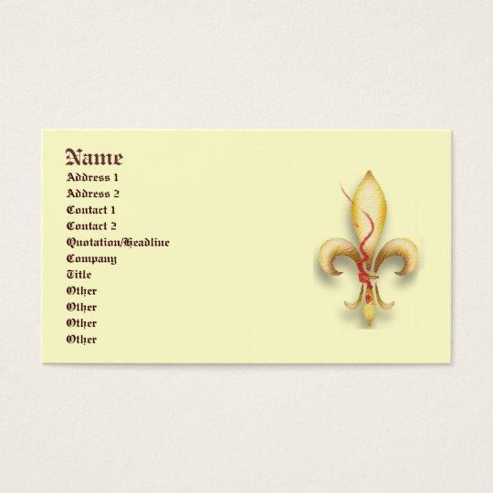 Fleur-de-Lys! Business Card
