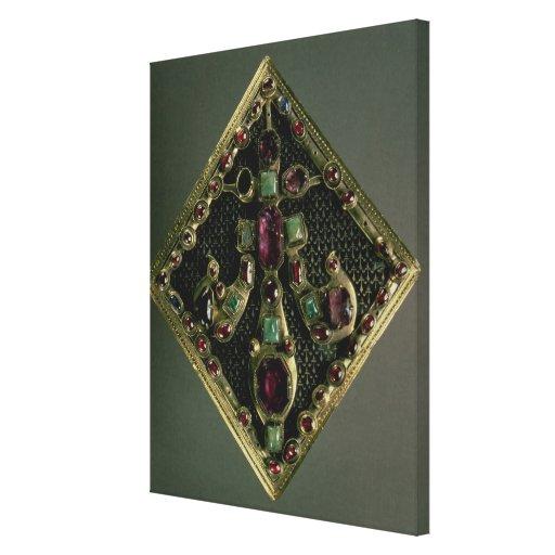 Fleur-de-lys clasp traditionally said to have belo canvas print