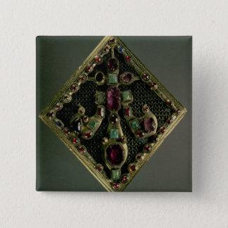Fleur-de-lys clasp traditionally said to have belo pinback button