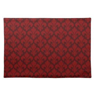 Fleur-de-Lys Deep Red Placemat