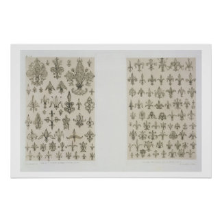 Fleur de Lys designs from every age and from all a Poster