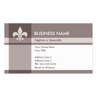 fleur de lys Double-Sided standard business cards (Pack of 100)