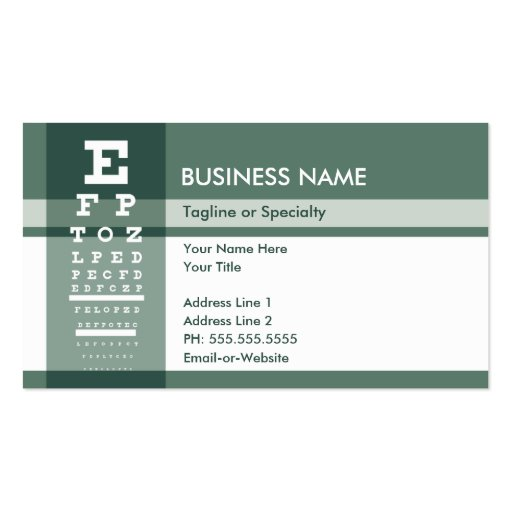fleur de lys eye test business card templates
