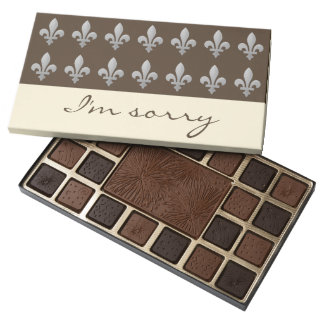 Fleur de lys Floral I Am Sorry Chocolates 45 Piece Assorted Chocolate Box