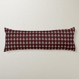 Fleur De Lys Floral Pattern Body Pillow at Zazzle