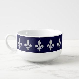 Fleur de lys Floral Pattern Soup Mug