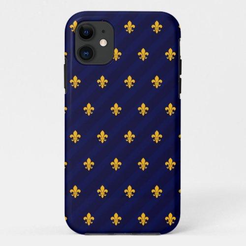 Fleur de Lys Orange-Blue Phone Case