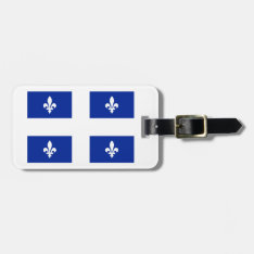 Fleur De Lys Quebec Flag Bag Tag at Zazzle
