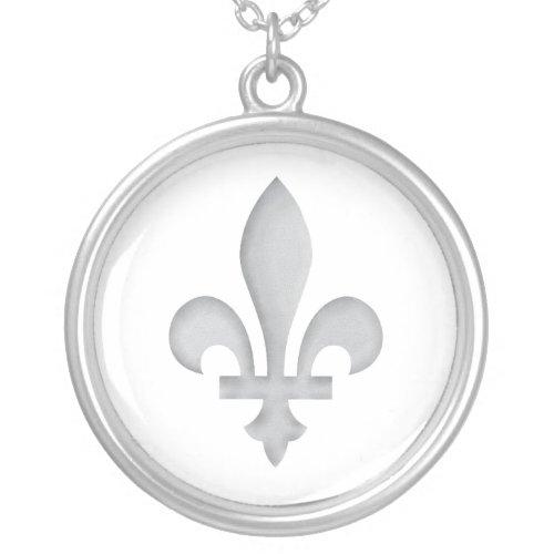 Fleur-de-lys Romantic Floral Silver Necklace necklace