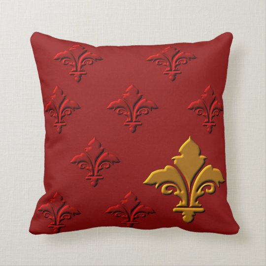 Fleur-de-Lys Throw Pillow