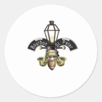 Fleur de New Orleans Classic Round Sticker