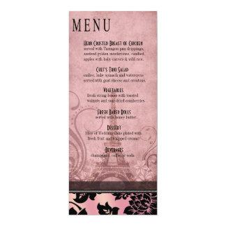 Fleur de Paris Eiffel Tower Dinner Menu | pink Card