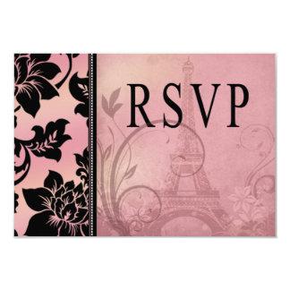Fleur de Paris Eiffel Tower RSVP | pink Card
