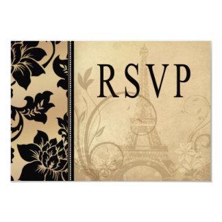 Fleur de Paris Eiffel Tower RSVP   sand Card