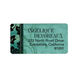 Fleur de Paris Eiffel Tower   teal Label