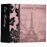 Fleur de Paris Eiffel Tower wedding album   pink Vinyl Binders