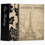 Fleur de Paris Eiffel Tower wedding album   sand Vinyl Binders
