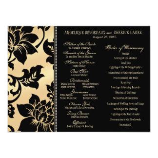 Fleur de Paris Eiffel Tower Wedding Program   sand Card