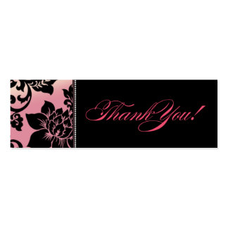 Fleur de Paris Gift Tag | pink Double-Sided Mini Business Cards (Pack Of 20)