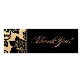 Fleur de Paris Gift Tag | sand Double-Sided Mini Business Cards (Pack Of 20)