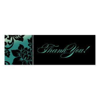 Fleur de Paris Gift Tag   teal Mini Business Card