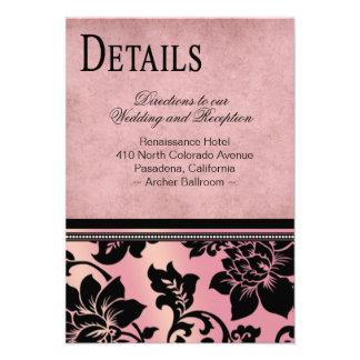 Fleur de Paris Info Wedding Directions   pink Invite
