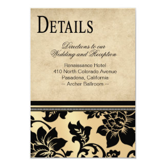 Fleur de Paris Info Wedding Directions   sand Card