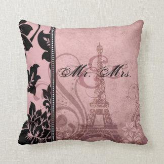 Fleur de Paris | pink Mr. & Mrs. Pillow