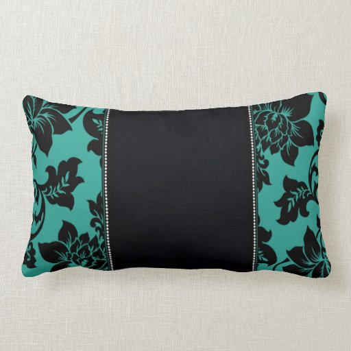 Fleur De Paris Teal Throw Pillows Zazzle